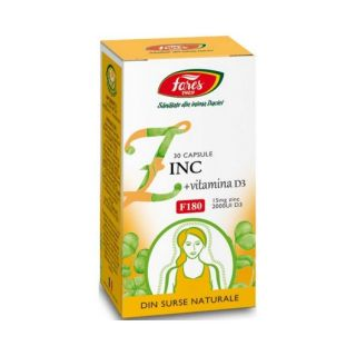 Zinc + Vitamina D3 F180, 30 capsule Fares